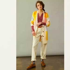 Anthropologie NWT Amadi Lexie Colorblocked Cardigan Size L.
